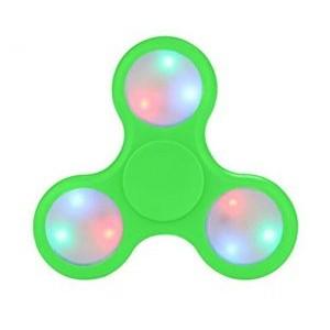 Spinner s LED světly zelený