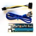Redukce PCI Express x1 na PCI Express x16 (PCIe riser) pro těžbu kryptoměn ver.006c
